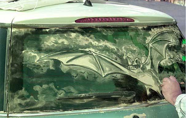 Τέχνη σε σκονισμένα αυτοκίνητα (22)