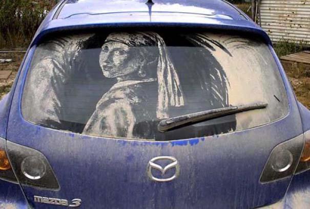 Τέχνη σε σκονισμένα αυτοκίνητα (23)