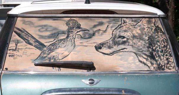 Τέχνη σε σκονισμένα αυτοκίνητα (26)