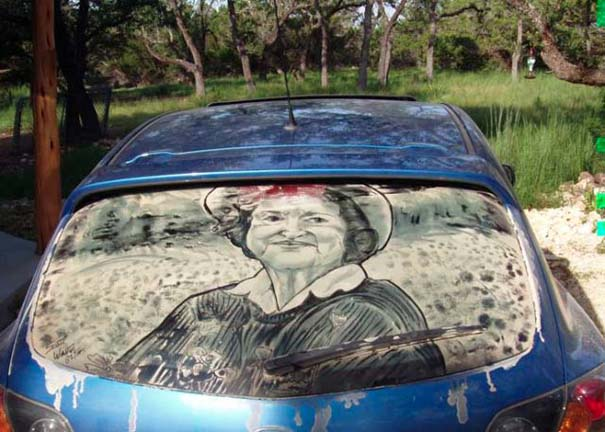 Τέχνη σε σκονισμένα αυτοκίνητα (27)