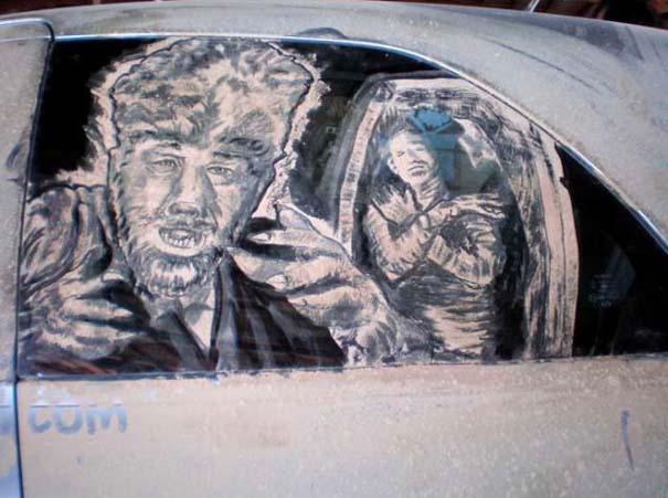 Τέχνη σε σκονισμένα αυτοκίνητα (29)