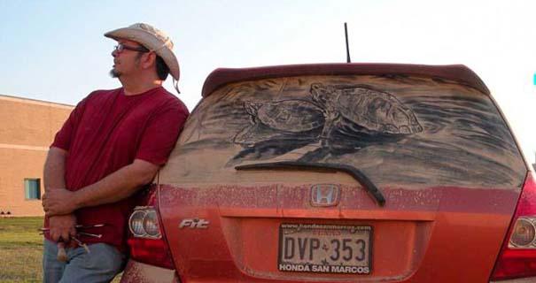Τέχνη σε σκονισμένα αυτοκίνητα (36)