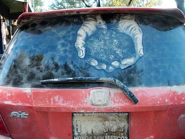 Τέχνη σε σκονισμένα αυτοκίνητα (37)