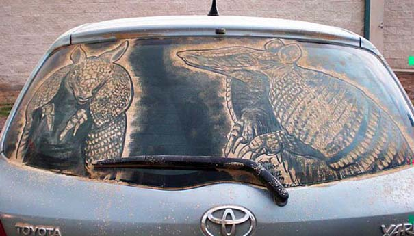 Τέχνη σε σκονισμένα αυτοκίνητα (38)