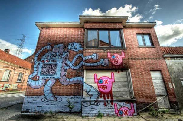 Doel: Το εγκαταλελειμμένο χωριό που παραδόθηκε στην τέχνη του δρόμου (4)