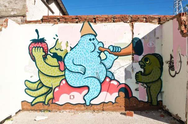 Doel: Το εγκαταλελειμμένο χωριό που παραδόθηκε στην τέχνη του δρόμου (18)