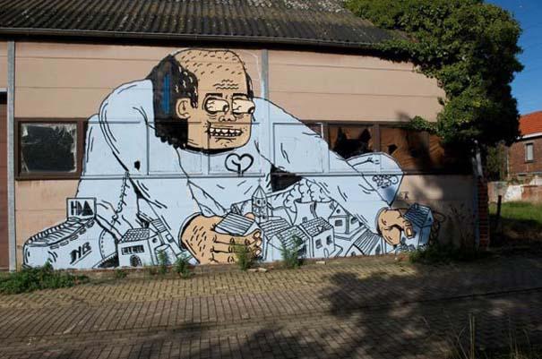 Doel: Το εγκαταλελειμμένο χωριό που παραδόθηκε στην τέχνη του δρόμου (20)