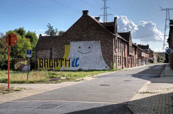 Doel: Το εγκαταλελειμμένο χωριό που παραδόθηκε στην τέχνη του δρόμου (34)