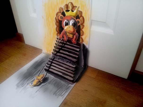 Εκπληκτικές 3D ζωγραφιές που «βγαίνουν» απ' το χαρτί (1)