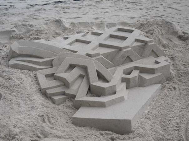 Γεωμετρικά κάστρα στην άμμο από τον Calvin Seibert (2)