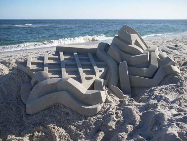 Γεωμετρικά κάστρα στην άμμο από τον Calvin Seibert (4)