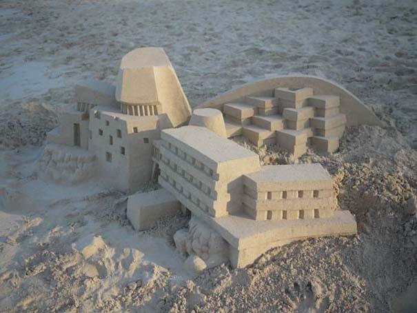 Γεωμετρικά κάστρα στην άμμο από τον Calvin Seibert (9)