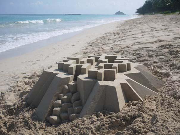 Γεωμετρικά κάστρα στην άμμο από τον Calvin Seibert (10)