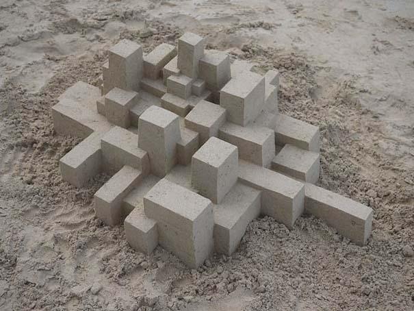 Γεωμετρικά κάστρα στην άμμο από τον Calvin Seibert (12)