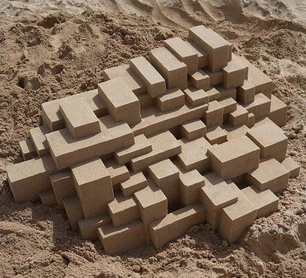 Γεωμετρικά κάστρα στην άμμο από τον Calvin Seibert (14)