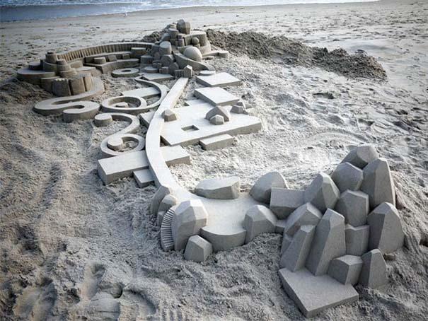 Γεωμετρικά κάστρα στην άμμο από τον Calvin Seibert (18)