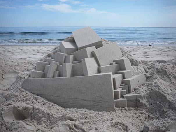 Γεωμετρικά κάστρα στην άμμο από τον Calvin Seibert (19)