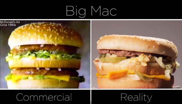 McDonald's: Διαφημίσεις vs πραγματικότητα (1)