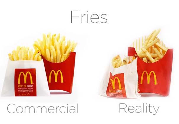 McDonald's: Διαφημίσεις vs πραγματικότητα (4)