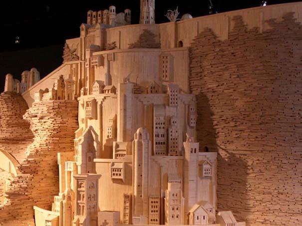 Minas Tirith από 420.000 σπίρτα (3)