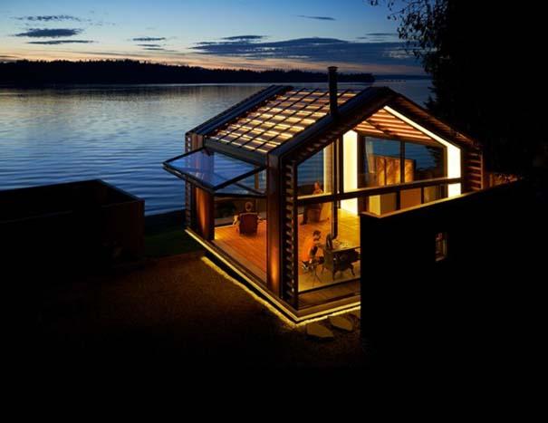 Μοντέρνα παραθαλάσσια καλύβα με εντυπωσιακό φωτισμό (2)