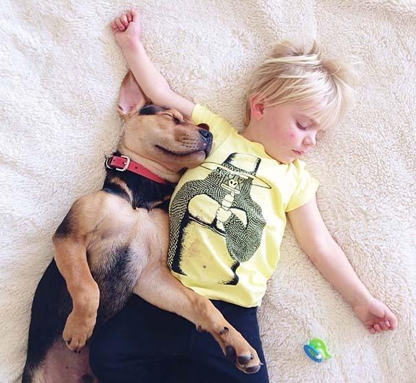 Νήπιο συνεχίζει να κοιμάται με το κουτάβι του κάθε μέρα (3)