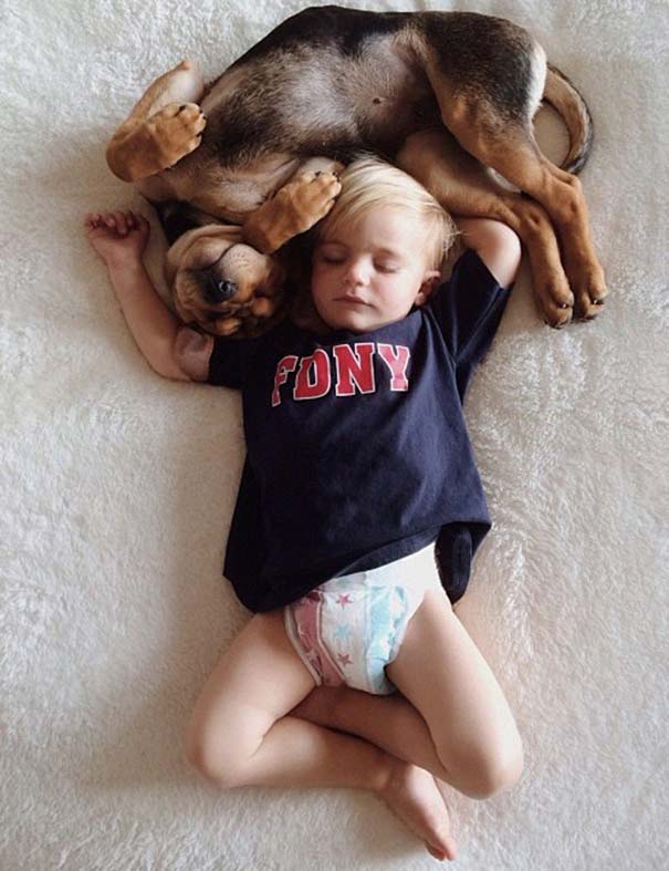 Νήπιο συνεχίζει να κοιμάται με το κουτάβι του κάθε μέρα (10)