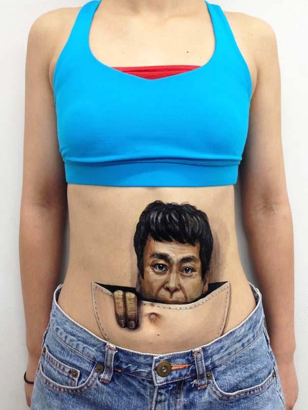 Οφθαλμαπάτες με body painting που τρελαίνουν το μυαλό (3)