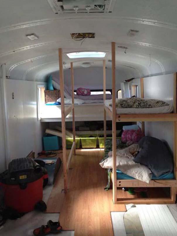 Οικογένεια μετέτρεψε σχολικό λεωφορείο σε σπίτι (10)