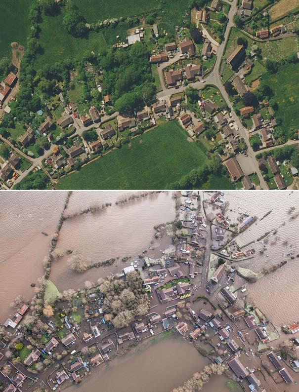 Πριν και μετά τις φονικές πλημμύρες στη Βρετανία (19)