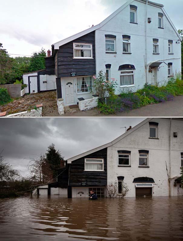 Πριν και μετά τις φονικές πλημμύρες στη Βρετανία (16)