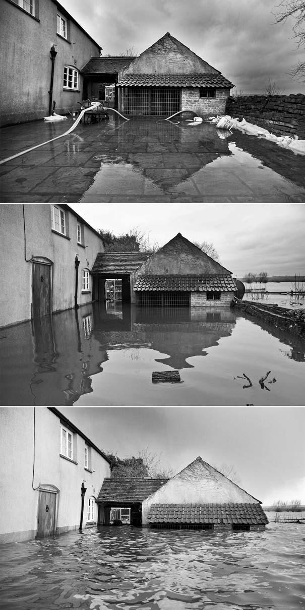 Πριν και μετά τις φονικές πλημμύρες στη Βρετανία (21)
