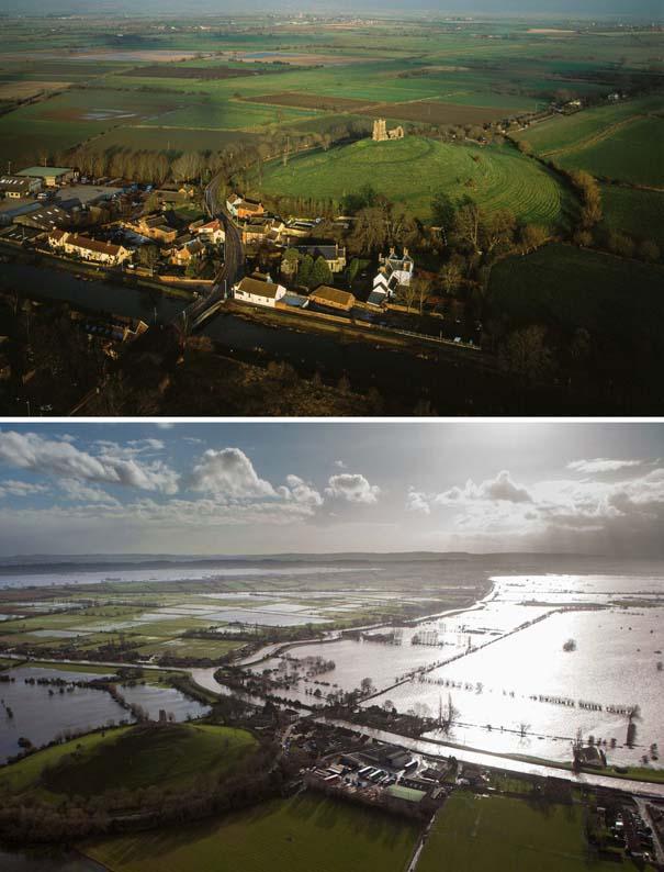 Πριν και μετά τις φονικές πλημμύρες στη Βρετανία (11)