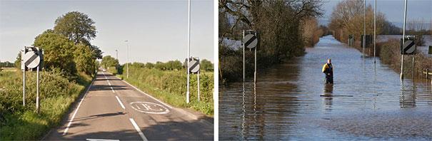 Πριν και μετά τις φονικές πλημμύρες στη Βρετανία (4)