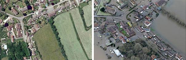 Πριν και μετά τις φονικές πλημμύρες στη Βρετανία (7)