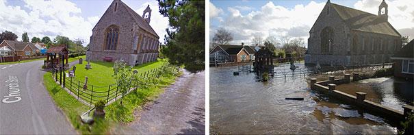 Πριν και μετά τις φονικές πλημμύρες στη Βρετανία (10)
