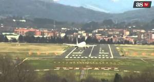 Προσγειώσεις με δυνατό άνεμο στο Bilbao της Ισπανίας (Video)