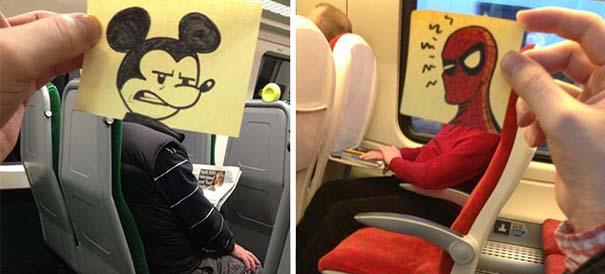 Σκιτσογράφος βρήκε έναν πολύ δημιουργικό τρόπο για να περνάει η ώρα στο τρένο (1)