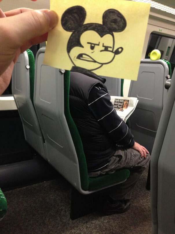 Σκιτσογράφος βρήκε έναν πολύ δημιουργικό τρόπο για να περνάει η ώρα στο τρένο (2)