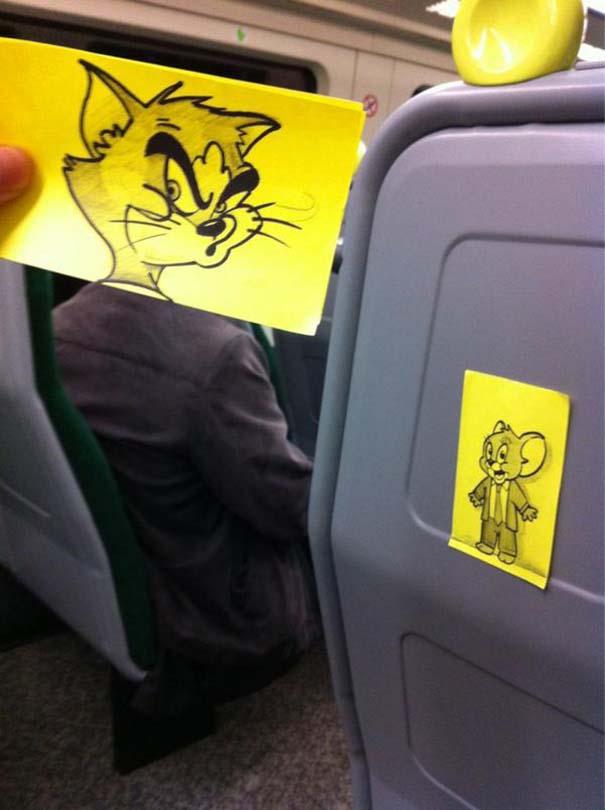 Σκιτσογράφος βρήκε έναν πολύ δημιουργικό τρόπο για να περνάει η ώρα στο τρένο (3)