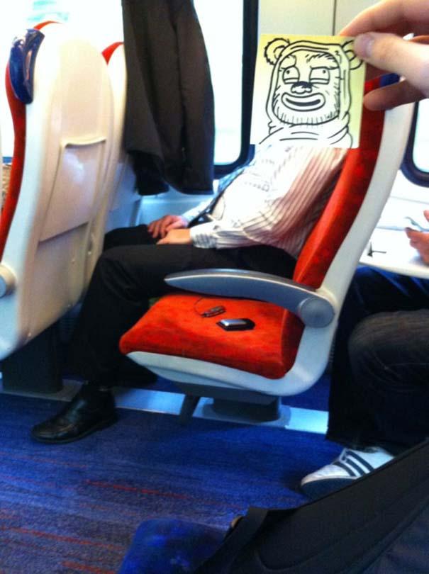 Σκιτσογράφος βρήκε έναν πολύ δημιουργικό τρόπο για να περνάει η ώρα στο τρένο (7)