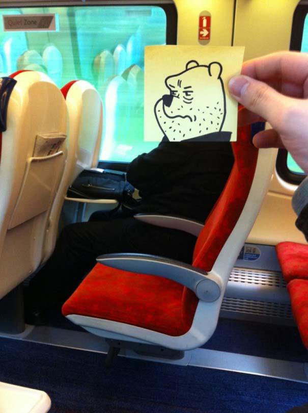 Σκιτσογράφος βρήκε έναν πολύ δημιουργικό τρόπο για να περνάει η ώρα στο τρένο (9)