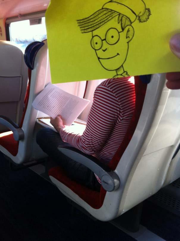 Σκιτσογράφος βρήκε έναν πολύ δημιουργικό τρόπο για να περνάει η ώρα στο τρένο (12)
