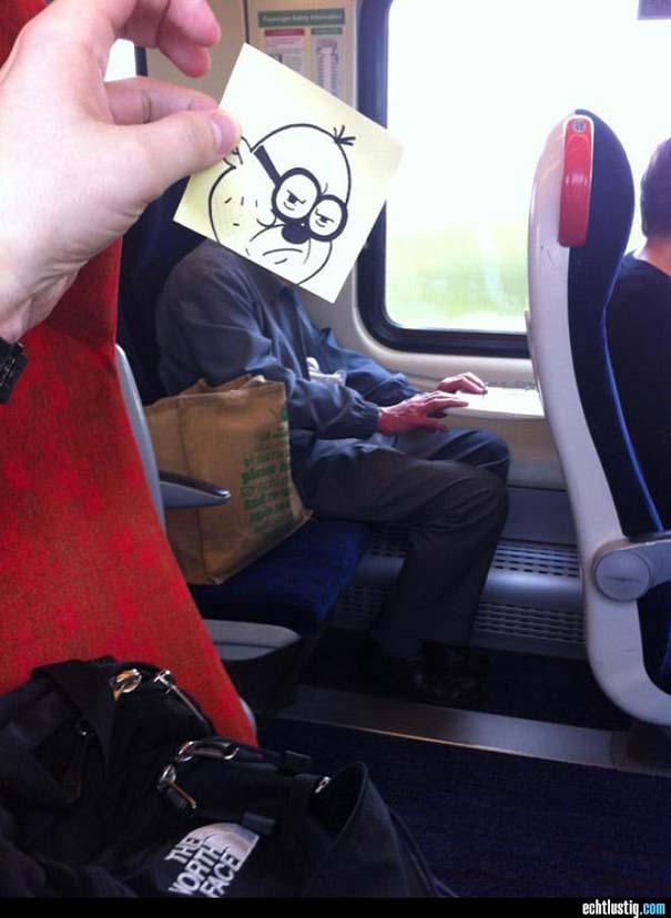 Σκιτσογράφος βρήκε έναν πολύ δημιουργικό τρόπο για να περνάει η ώρα στο τρένο (15)