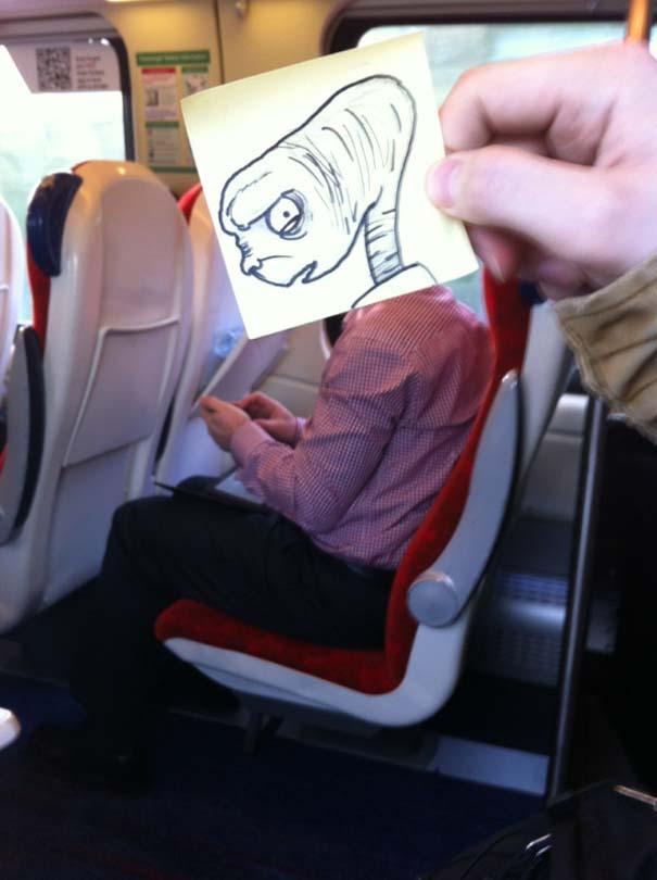 Σκιτσογράφος βρήκε έναν πολύ δημιουργικό τρόπο για να περνάει η ώρα στο τρένο (18)