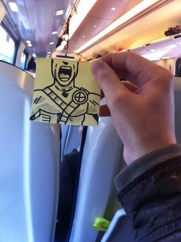 Σκιτσογράφος βρήκε έναν πολύ δημιουργικό τρόπο για να περνάει η ώρα στο τρένο (22)