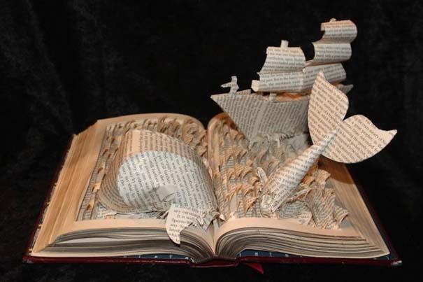 Βιβλία μετατρέπονται σε γλυπτά που ζωντανεύουν (1)