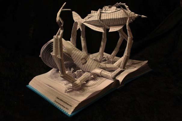 Βιβλία μετατρέπονται σε γλυπτά που ζωντανεύουν (2)