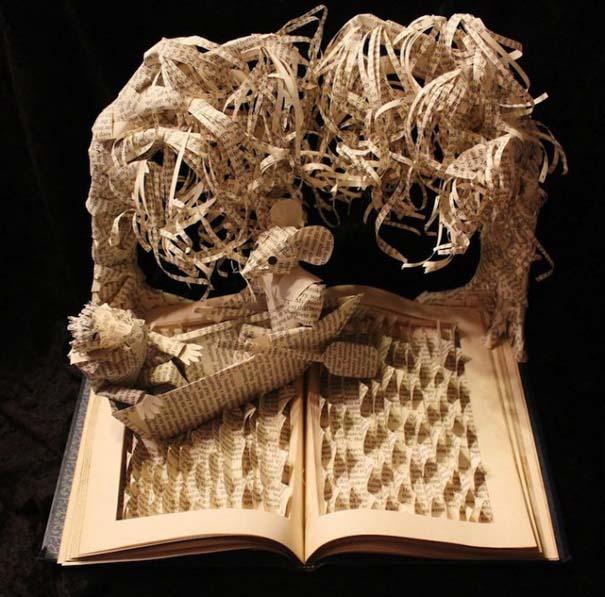 Βιβλία μετατρέπονται σε γλυπτά που ζωντανεύουν (3)