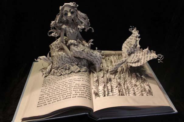 Βιβλία μετατρέπονται σε γλυπτά που ζωντανεύουν (4)